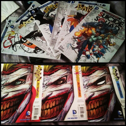 Even more comic book presents!  Batman: The Dark Knight, Detective Comics & Batgirl #0 are MUST READS.