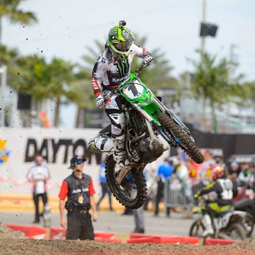 monsterenergy:  @ryanvillopoto looking good during practice in Daytona for #MonsterEnergySX! #NoFilter