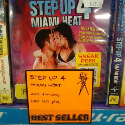 Step Up 4: Miami Heat Whoever watches these films for plot need to have their heads checked. - via carcass2k