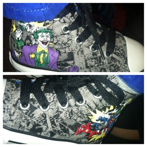 My sons #chucks lol #taylergang #joker #batman #superman #flash #theflash #dc #comics