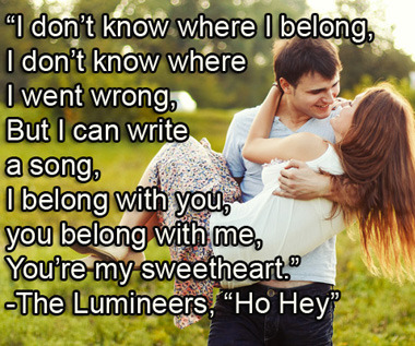 Get yourself in the Valentine's Day spirit with 10 Of The Best Long Song Quotes Right Now!  Photo source: Shutterstock.com