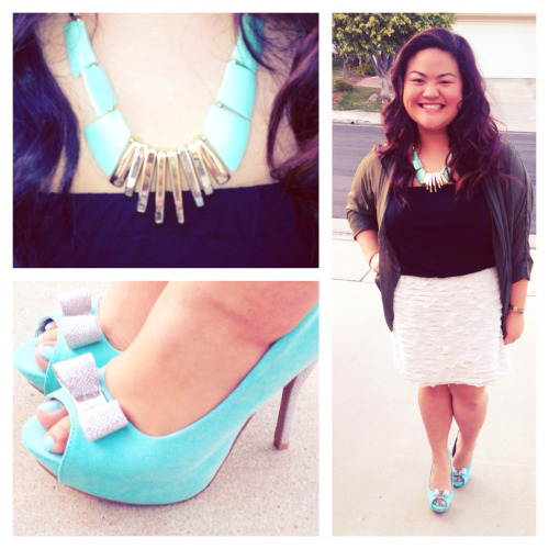 Dress [Kaitlyn], Coverup [American Apparel], Necklace [F21], Shoes [Flea Market]  -Bubblefizzle [02.26.13]
