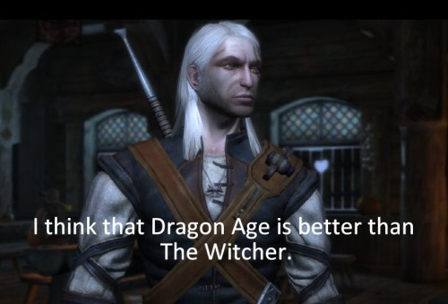 Confession: I think that Dragon Age is better than The Witcher.