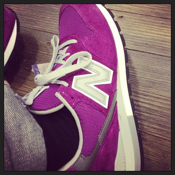 My new #newbalance kicks makes my mind go wild. This color is Epic.