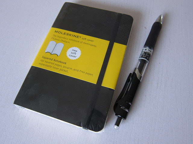 fuckyeahnotebooks:  Moleskine gridline notebook - 70rmb by otronix on Flickr.