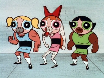 keystonecougar:  guys cosplaying as guys cosplaying the powerpuff girls