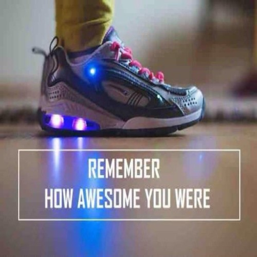 9gag:  Remember your light up shoes?