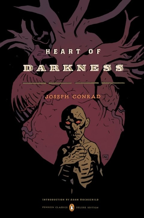 wilburwhateley:  Mike Mignola's cover for Heart of Darkness