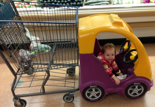 This is how we roll in the grocery store these days.