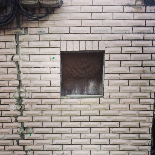 Patterns. Bricks at Bangchun Market 방천시장 #daegu #Korea #asia #wall #brick #grey #gray #white #old #cable #urban #city
