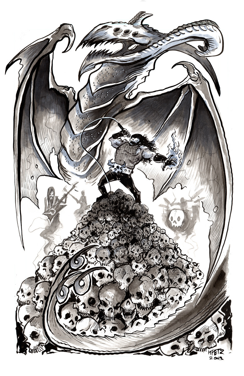Not sure if I ever posted this Danzig commission. So here it is.