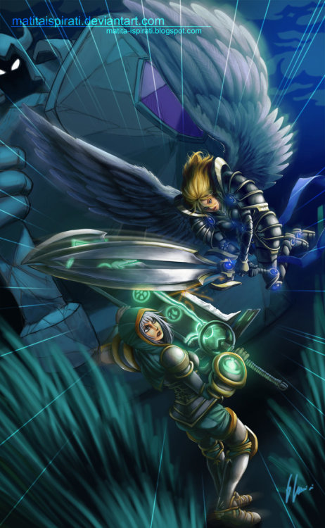 weagueofwegends:  [x] Redeemed Riven vs Battleborn Kayle