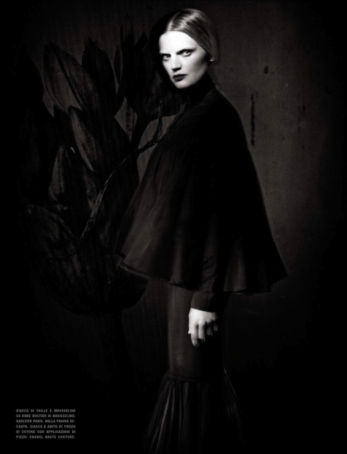Guinevere Van Seenus by Paolo Roversi for Vogue Italia (March 2013).