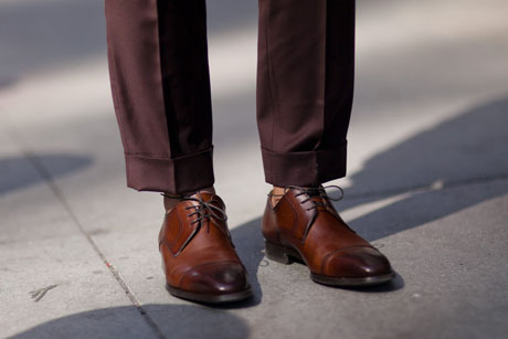 details:  Street Style: A 3-Piece Suit—Hold the Socks