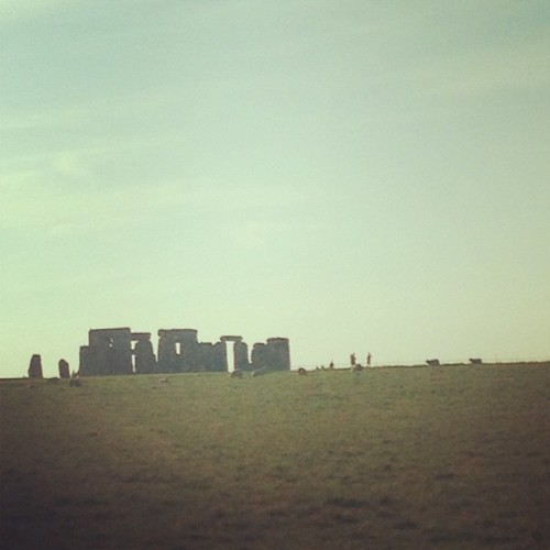Not bad from a moving car #stonehenge