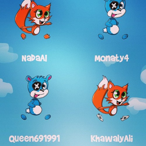 Playing fun run with siso'z @nadaai @khwaly2 @queen_s_nas 😄