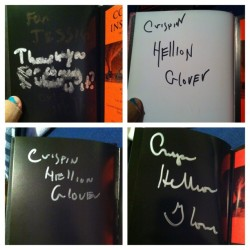 All four #crispinglover books signed by him. One dedicated to me too :) when I met him. Yay!
