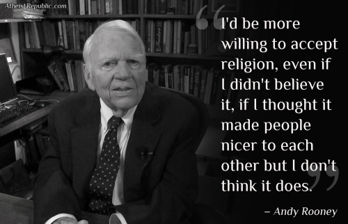 americanhumanist:  Listen to Andy Rooney talk to the AHA's HNN about his atheism here.