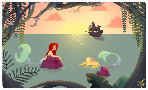eatsleepdraw:  The Mermaid Lagoon - by Vivianne du Bois
