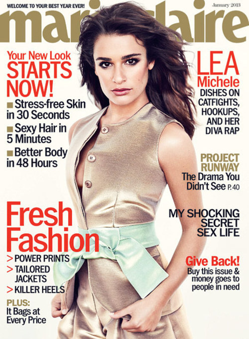 Lea Michele dishes on her (adorable) relationship with Cory Monteith, her boobs, and more! Click for more!