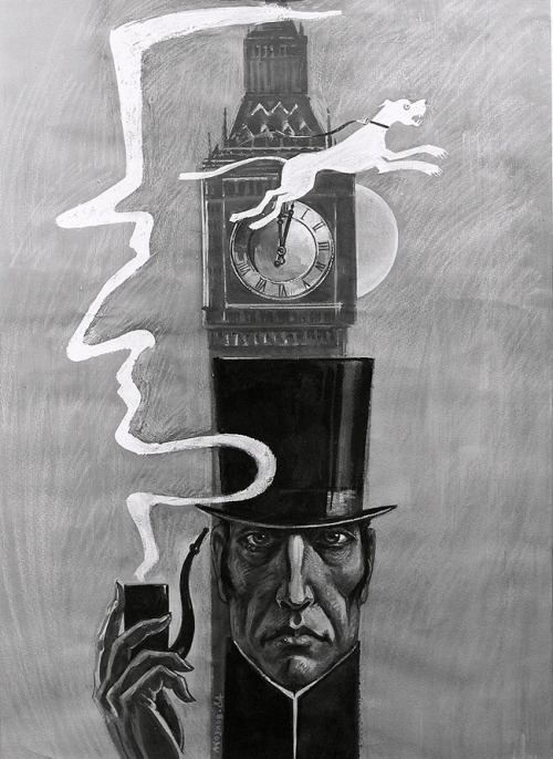 illustration-alcove:  Sherlock Holmes art by Leonid Kozlov.