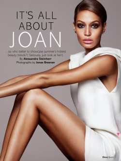 Joan Smalls for Glamour UK June 2013 in Summer Makeup Looks
