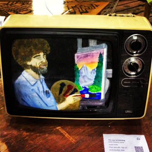 #art #artallnight #bobross #pbs #paint #television @suzabox  (at Art All Night)