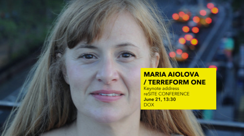 Another highlight of reSITE conference! Maria Aiolova / Terreform One , NYC/ Buy your ticket today.www.resite.cz