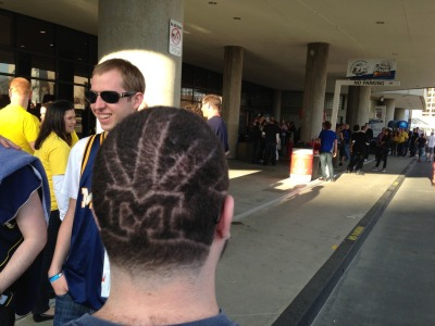 Only a true #michiganman sports a sweet cut like this