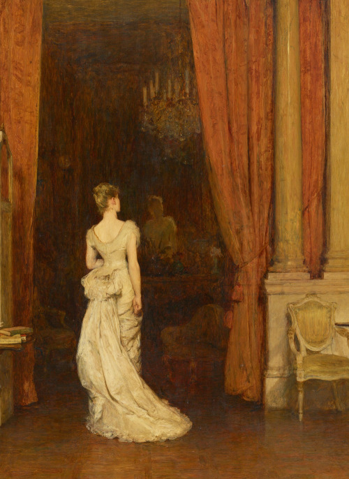 jaded-mandarin:  The First Cloud - William Quiller Orchardson. Detail.