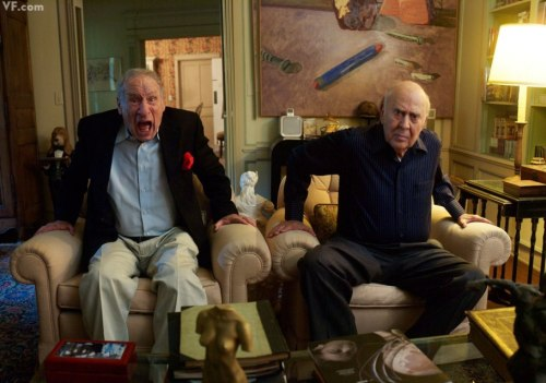 awesomepeoplehangingouttogether:  Mel Brooks and Carl Reiner