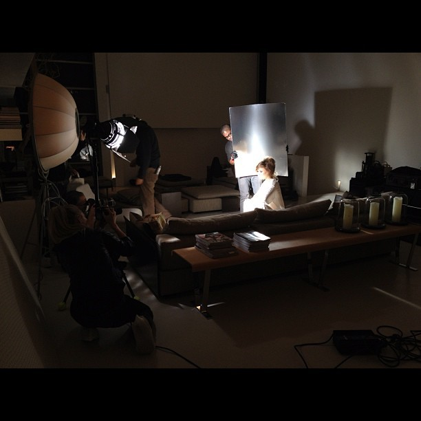 Cinematic set on our Vs. shoot today #12. 21.2012 #cinematic #katebosworth @guyaroch @chercoulter @jakobfs @vibedabelsteen