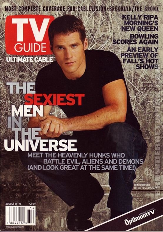 browdernetwork:  Ben Browder Tv Guide Cover —— Join The Browder Network on Facebook