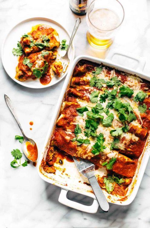Spicy black bean enchiladas recipe