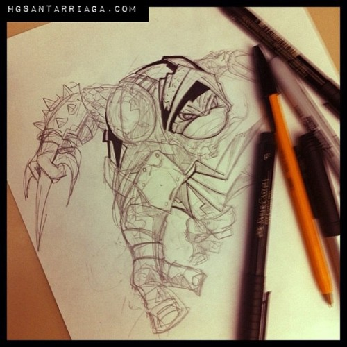 Ink over the turtle! #tmnt #sketch #illustration