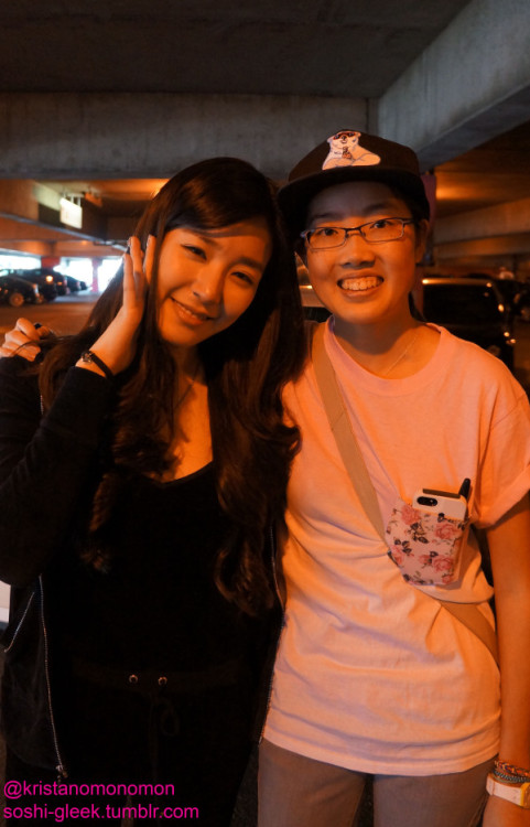 "soshi-gleek:  My life is complete. I met Fany Fany Tiffany!! She was so sweet and said thank you to us for coming, and I got her autograph (she spelled my name wrong and I was like ""don't worry"" but she insisted on fixing the ""i"" to and ""E"" and I was shaking while meeting her but she was like ""It's ok"" and she patted my shoulder and OMG…I'm just so happy right now :)"