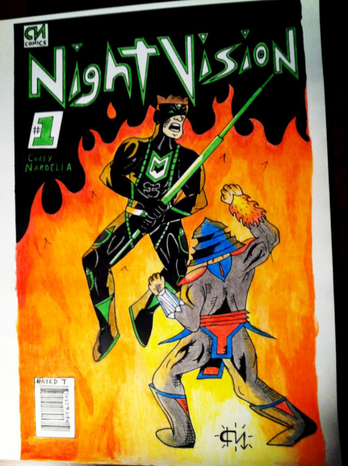 "Cover of my Original comic ""Night Vision"""