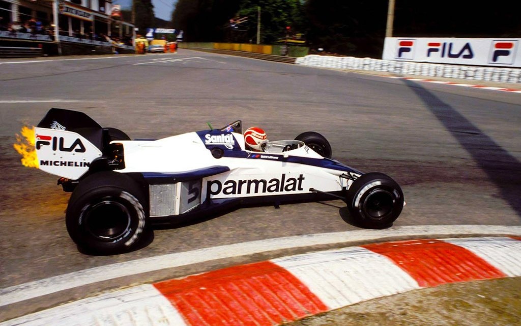 formula1blogger:  Nelson Piquet, Brabham BT52 at La Source Hairpin, Belgium GP, 1983  Omfg