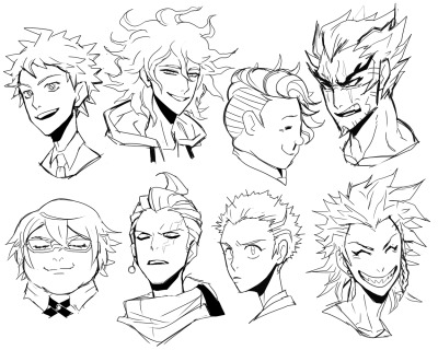 neukgol:  all sdr2 boys in my style (maybe W.I.P.?) how I'm tagging all of these boy's name;;;;