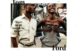 Ajak Deng and Ambrose Carter wearing Tom Ford for Oyster #97