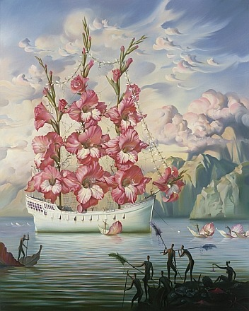 flavouredcaboodle:  - Arrival of the Flower Ship, by Vladimir Kush