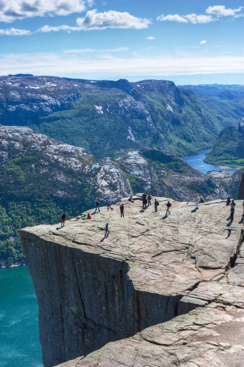 mystic-revelations:  Natural High - Preikestolen/Pulpit Rock (by Jim Boud)