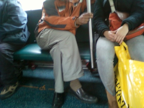 movethefuckoverbro:  Took this on the bus a little while ago. This dude is sitting diagonally across two seats, on a packed bus (as in, people are actually having to stand so he can sit like this), and having a rather loud conversation on his phone.  As if taking up so much space wasn't enough, he had to be loud and disruptive too. ———————— UGHHHHHHHHHHHHHHHHHHHHHHHHH I hate phone conversations on the bus almost most as I hate dudes taking up too much space (and in general, honestly)  Because NO WOMAN has even sat in a similar position or had a loud phone conversation. Sure.