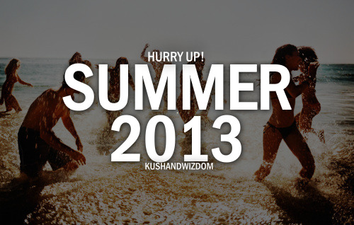 Summer. The time if the year when you can create the best times of your life and when you don't have a worry in the world. You can just chill and soak up that beautiful sun. Summer makes me happy. Because that is when I can go live up north where I work where I don't have to worry about my parents and where I can make my own decisions and be my own person.  Nbd :)