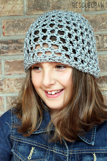 OPEN LACE CROCHET HAT - Free Pattern by Easy Crochet Crochet