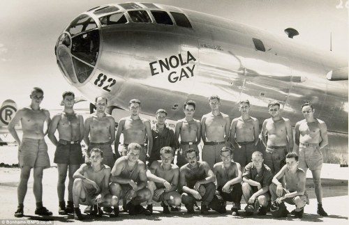 """Boeing B-29 superfortress bomber """"Enola Gay"""" named for Enola gay tibbets,  the mother of the pilot Colonel paul tibbets. On the 6th of august 1945 Enola  Gay ..."""