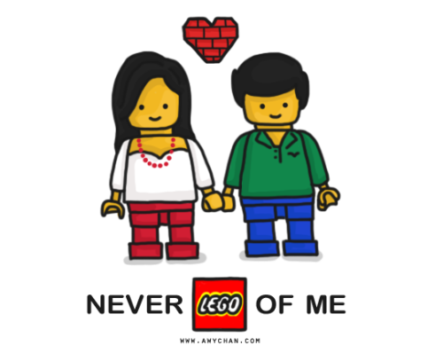 "Never ""LEGO"" of me, baby! ;) http://www.facebook.com/GienessLovesDoodles Please Like or Follow on my Facebook fanpage and help make someone smile today!"