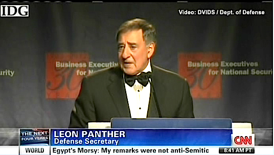 "CNN renames Defense Secretary ""Leon Panther"" (via @mmfa)"