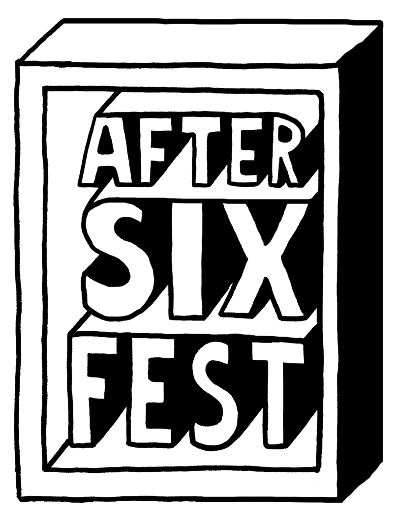 "I'm part of the really cool AFTER SIX FESTIVAL this weekend in the south of Antwerp @ Scheld'apen. Here's already a tote bag design I did. 12 Bands and 12 illustrators from all over the globe joined forces. The bands will perform saturday and sunday, while artwork specifically made for the festival will be available in the form of prints, vinyl records and tote bags. You can also purchase it as an ""art pack"". There's also an exhibition with large paintings. If you are in Antwerp or around, don't miss it ! www.aftersixfest.com"