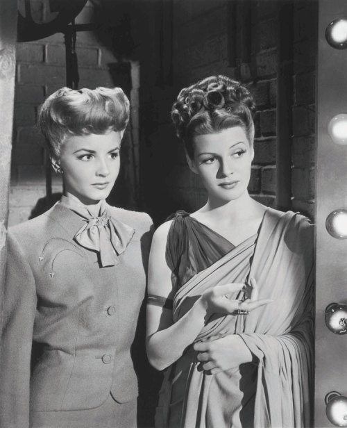 Rita Hayworth & Janet Blair